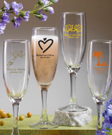 Champagne Flute Favors Personalized