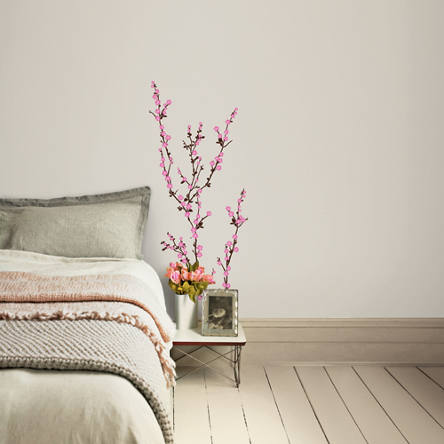 Pink cherry blossom tree peel stick wall mural sticker for Cherry tree mural