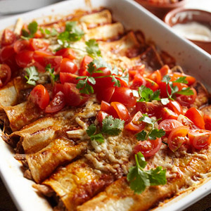 Pulled pork enchiladas recipe